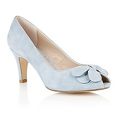 Lotus - Lotus pale blue suede 'Elvira' peep toe shoes