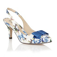 Lotus - Blue floral 'Cathy' court shoes