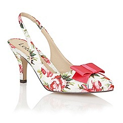 Lotus - Pink floral 'Cathy' court shoes