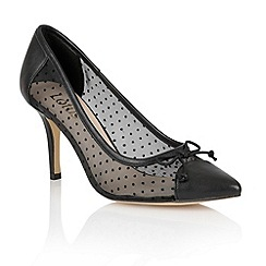Lotus - Lotus black 'Crede' court shoes