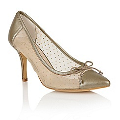 Lotus - Lotus gold 'Crede' court shoes
