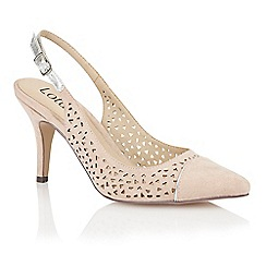 Lotus - Beige microfibre 'Ela' court shoes