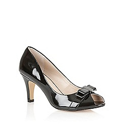 Lotus - Black patent leather 'Roseanne' peep toe shoes