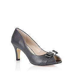 Lotus - Navy leather 'Roseanne' peep toe shoes