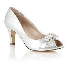 Lotus - Silver leather 'Roseanne' peep toe shoes