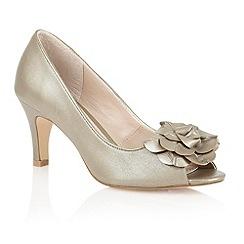 Lotus - Light gold 'Belinda' peep toe shoes