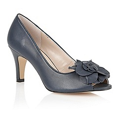 Lotus - Navy 'Belinda' peep toe shoes