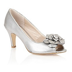 Lotus - Light pewter 'Belinda' peep toe shoes