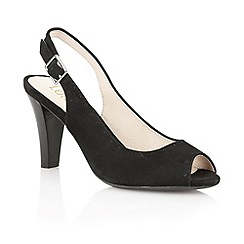 Lotus - Black suede 'Faith' peep toe shoes