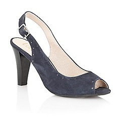 Lotus - Navy suede 'Faith' peep toe shoes
