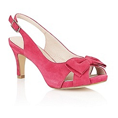 Lotus - Fuchsia suede 'Diana' peep toe shoes