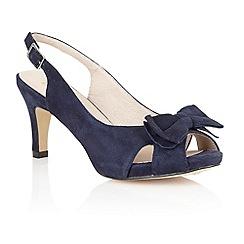 Lotus - Navy suede 'Diana' peep toe shoes