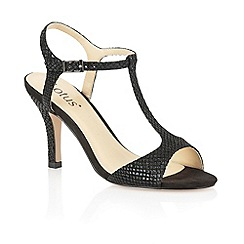 Lotus - Black sanke print 'Julieanna' open toe shoes