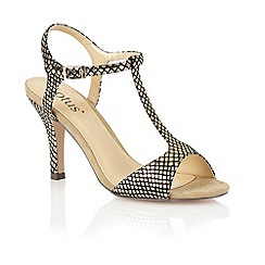 Lotus - Gold sanke print 'Julieanna' open toe shoes