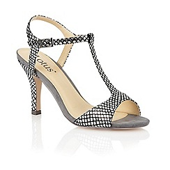 Lotus - Pewter sanke print 'Julieanna' open toe shoes