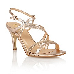 Lotus - Lotus rose gold 'Hendrix' court shoes