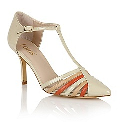 Lotus - Lotus beige 'Georgina' court shoes