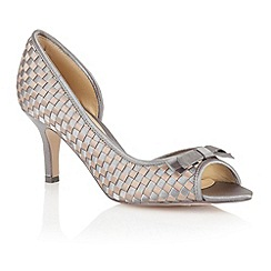 Lotus - Pewter bronze satin 'Bernice' peep toe shoes