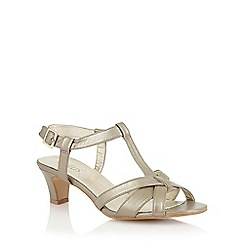 Lotus - Light gold leather 'Empress' court shoes