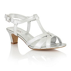 Lotus - Silver leather 'Empress' court shoes