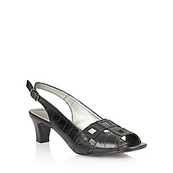 Lotus - Lotus black 'Zabry' open toe shoes