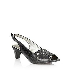 Lotus - Black 'Zabry' open toe shoes