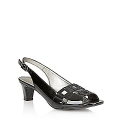 Lotus - Lotus black croc 'Zabry' open toe shoes