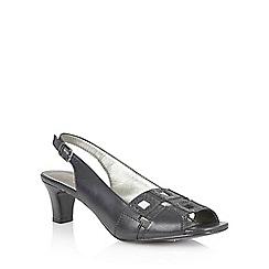 Lotus - Lotus navy 'Zabry' open toe shoes