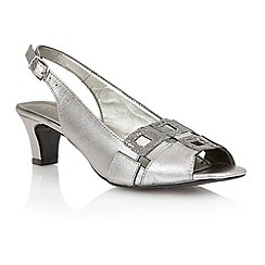 Lotus - Lotus pewter 'Zabry' open toe shoes