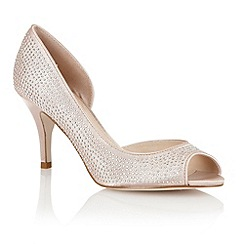 Lotus - Nude 'Soire' open toe shoes