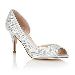 Lotus - Silver 'Soire' open toe shoes