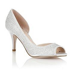 Lotus - Silver 'Soire' open toe shoes