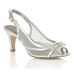 Lotus - Silver mesh 'Edna' peep toe shoes