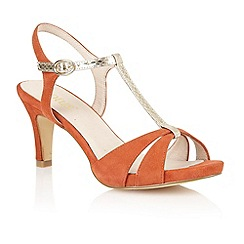 Lotus - Burnt orange suede 'Geraldine' open toe shoes