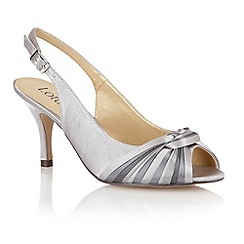 Lotus - Pewter multi satin 'Janice' peep toe shoes