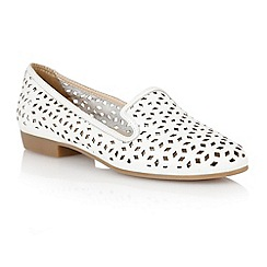 Lotus - Lotus white 'Octavia' slipper shoes