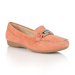 Lotus - Lotus coral suede 'Alicia' loafers