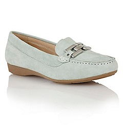 Lotus - Lotus pale blue suede 'Alicia' loafers