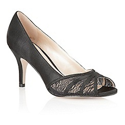 Lotus - Lotus black 'Tina' open toe shoes