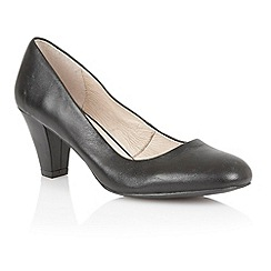 Lotus - Black leather 'Brenda' court shoes