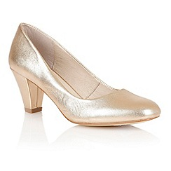 Lotus - Rose gold leather 'Brenda' court shoes