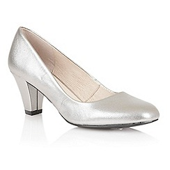 Lotus - Pewter leather 'Brenda' court shoes