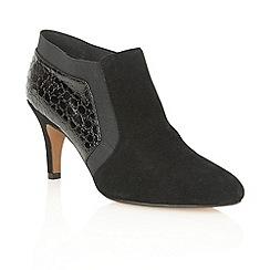 Lotus - Black suede croc 'Arnie' shoe boots