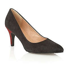 Lotus - Black bordeaux suede 'Reco' court shoes