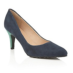 Lotus - Navy green suede 'Reco' court shoes