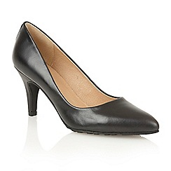 Lotus - Black leather 'Myrtle' court shoes