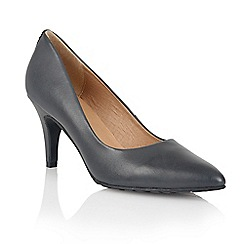 Lotus - Navy leather 'Myrtle' court shoes