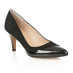 Lotus - Black suede patent 'Elyza' court shoes