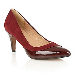 Lotus - Bordeaux suede patent 'Elyza' court shoes