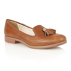 Lotus - Brown leather 'Glady' court shoes